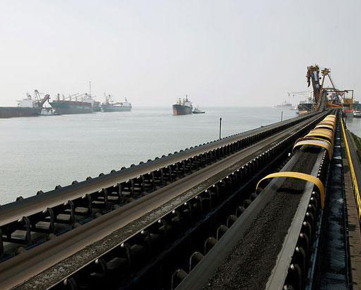 码头装煤输送带